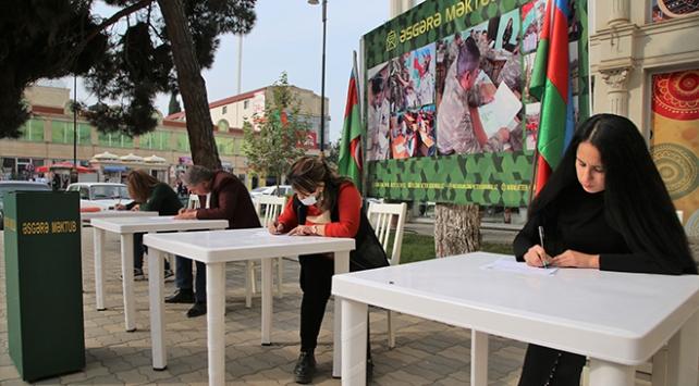 Azerbaycan halkından cephedeki askerlerine moral mektupları
