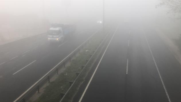 Tekirdağda sis ve pus nedeniyle trafik akışı olumsuz etkilendi