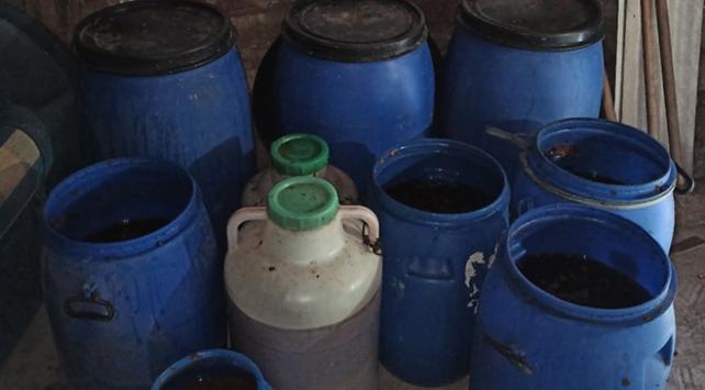 Çorumda 2 bin 653 litre sahte içki ele geçirildi