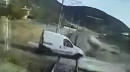 Dayı ile yeğenin öldüğü kaza kamerada