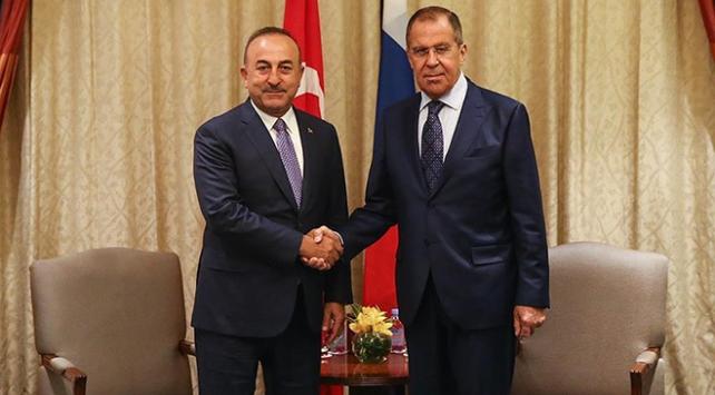 Dışişleri Bakanı Çavuşoğlu Rus mevkidaşı Lavrovla görüştü