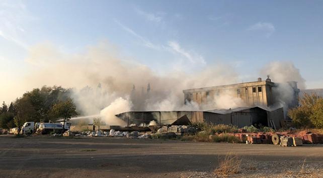 Kahramanmaraşta fabrika yangını