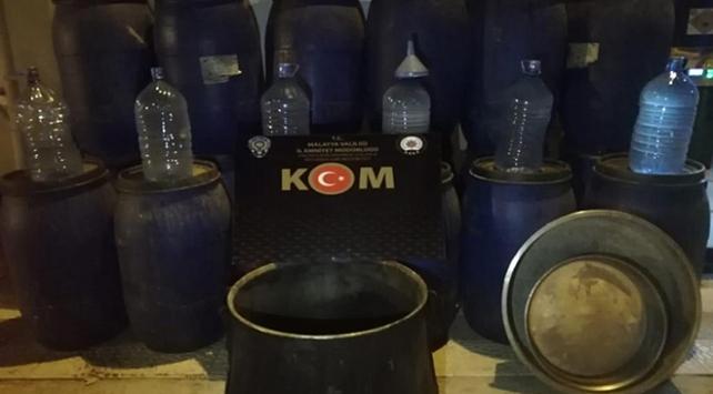 Malatyada 3 bin 880 litre sahte içki ele geçirildi: 1 gözaltı