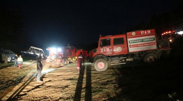 Kastamonuda yeniden başlayan orman yangını kontrol altına alındı