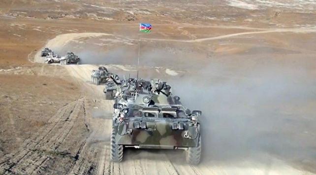 Azerbaycan ordusu çok sayıda hedefi imha etti