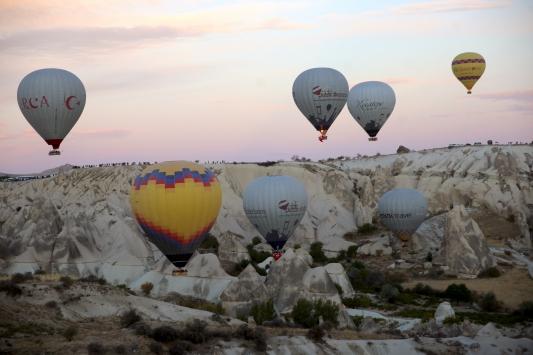 Kapadokyada balonlar, Cumhuriyet Bayramı için havalandı