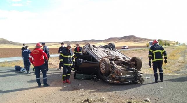 Yozgatta otomobil devrildi: 1 ölü, 3 yaralı