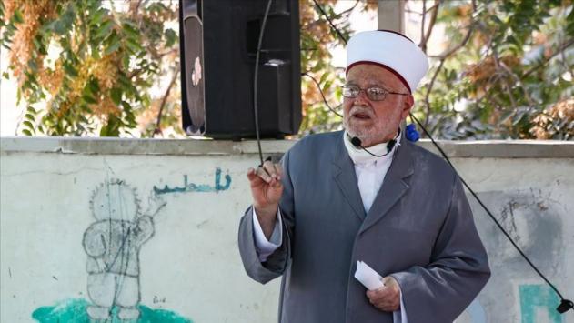 İsrail güçlerinden Mescid-i Aksa İmam Hatibi Şeyh Sabriye tehdit