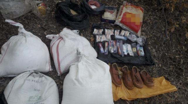Bitliste teröristlerin araziye gizlediği malzemeler ele geçirildi