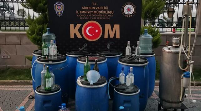 Giresunda sahte içki operasyonu: 1060 litre ele geçirildi