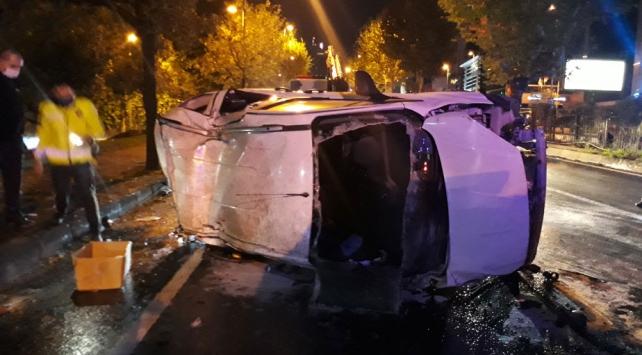 Şişlide meydana gelen trafik kazasında 4 kişi yaralandı