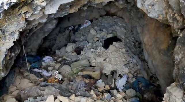 Tuncelide teröristlerce kullanılan sığınak ve mağara imha edildi