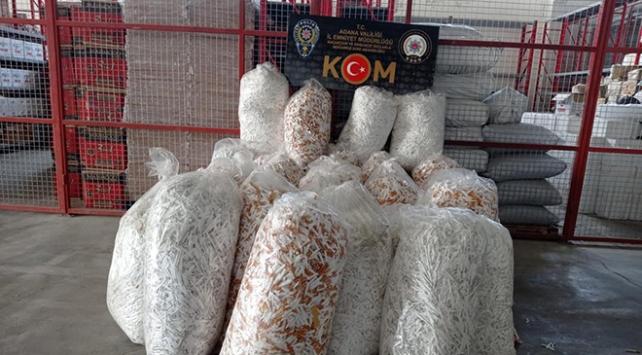 Adanada 1 milyon kaçak makaron ele geçirildi