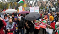 Avrupa'nın Başkenti'nde İsrail'e Protesto