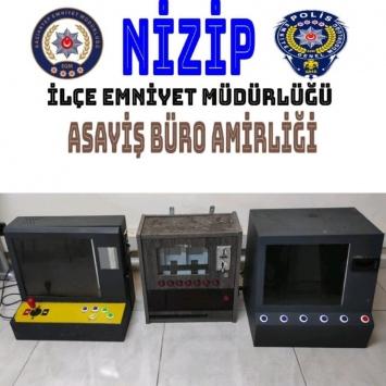 Gaziantepte 3 elektronik kumar makinesi ele geçirildi