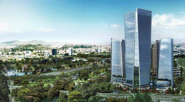 Yeni deprem yönetmeliğine göre hazırlanan ofisler Ankarada yükseliyor