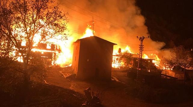 Kastamonu'nun Tepeharman köyünde yangın