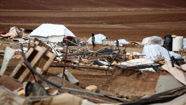 İsrailin yıktığı Hammisa Bedevi köyü sakinleri başlarını sokacak yer arıyor