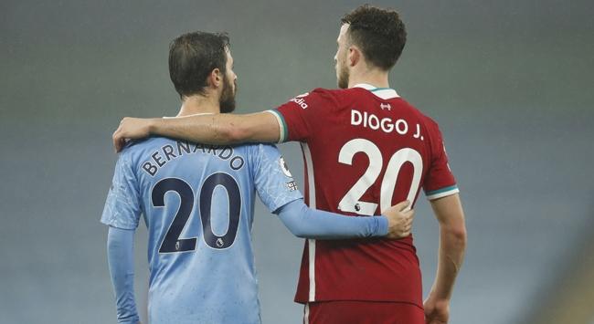 Manchester City ile Liverpool birer puana razı oldu