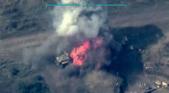 Ermenistanın tank ve topları imha edildi