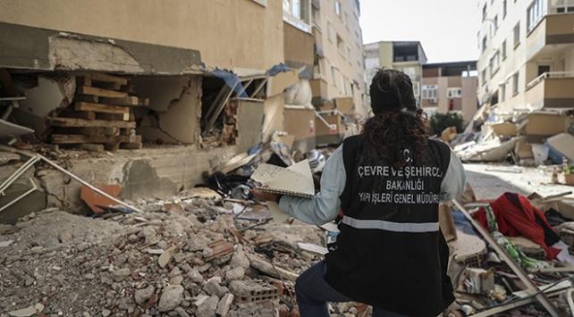 İzmirde lazer metre cihazlarıyla hasar tespiti