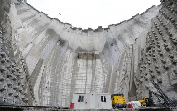 Yusufeli Barajının gövde yüksekliğinde 247 metreye ulaşıldı