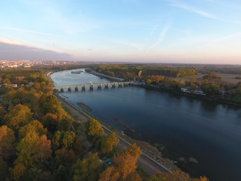 Meriç Nehri boyları sonbaharın renklerine büründü
