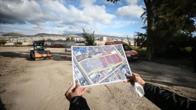 İzmirde 1000 konteynerlik geçici barınma merkezinde çalışma sürüyor