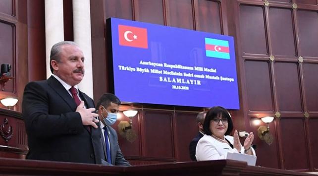Şentop: Tarihin trajik bir sayfası Azerbaycan için zaferle kapandı