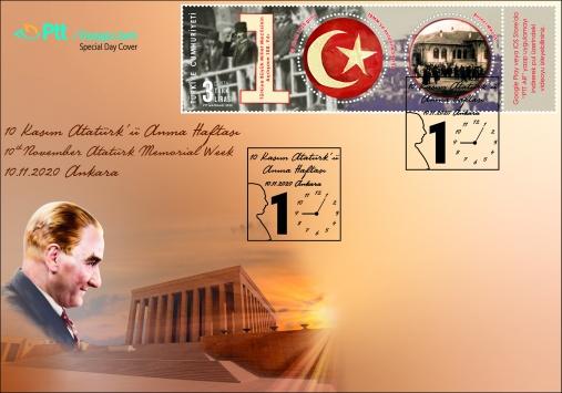 PTTden 10 Kasım Atatürkü Anma Günü için özel gün zarfı