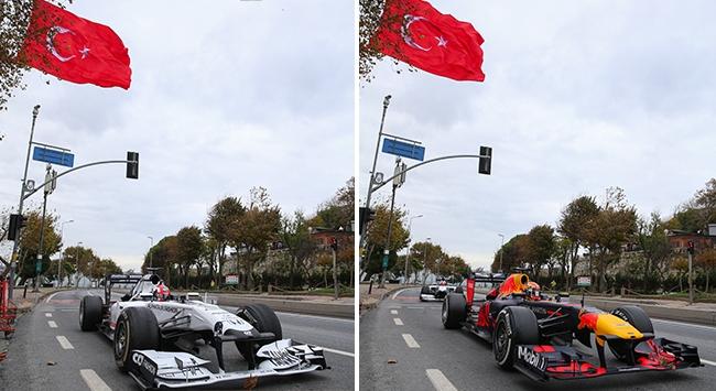 Formula 1 pilotlarından saygı sürüşü