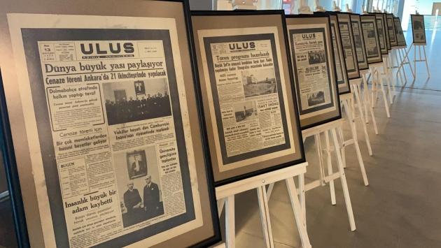 Kırşehirde Atatürkün ölümü ve sonrasındaki haberlerin yer aldığı gazeteler sergilendi
