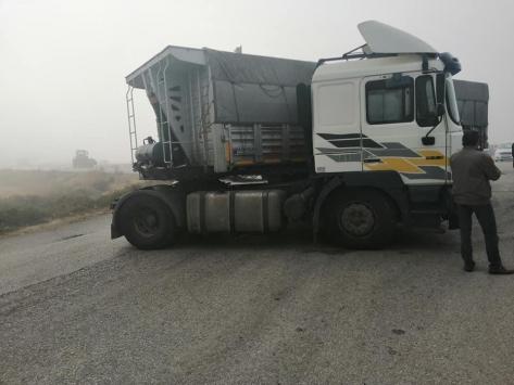 Konyada meydana gelen zincirleme trafik kazasında 7 araçta hasar oluştu
