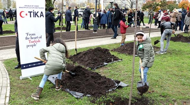 Kievde Milli Ağaçlandırma Gününde fidan dikildi