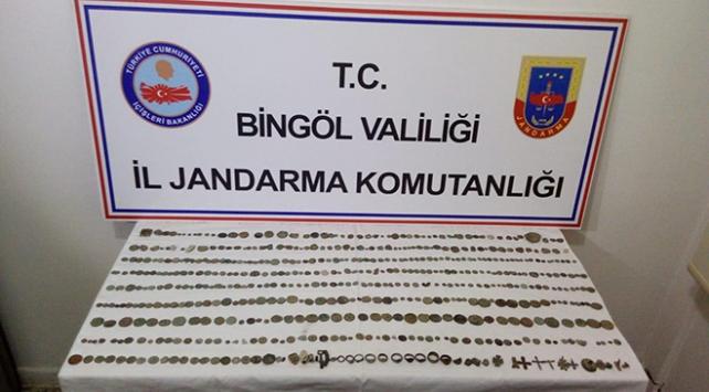 Bingölde tarihi eser operasyonu: 536 parça ele geçirildi
