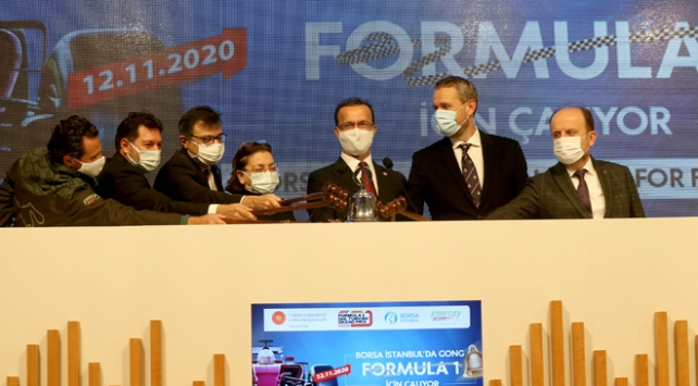 Borsa İstanbulda gong Formula 1 için çaldı