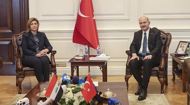Bakan Soylu, Irak Göç ve Göçmenler Bakanı Cabro ile görüştü