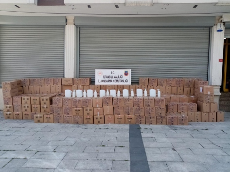 İstanbulda jandarmadan sahte dezenfektan operasyonu