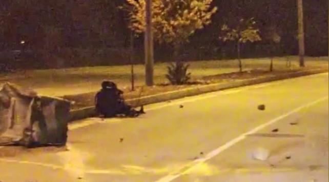 Kediye çarpmamak için kaza yapan genç ağır yaralandı