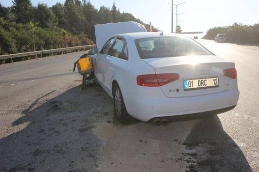 Adanada otomobil ile forklift çarpıştı: 2 yaralı
