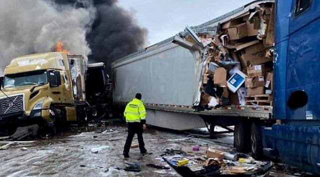 ABDde 29 araçlı zincirleme kaza: 9 yaralı