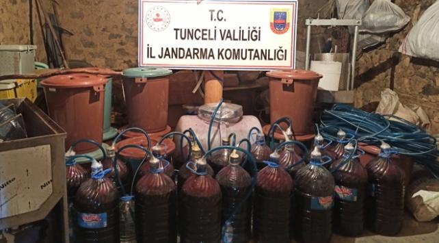 Tuncelide 500 litre sahte alkol ele geçirildi