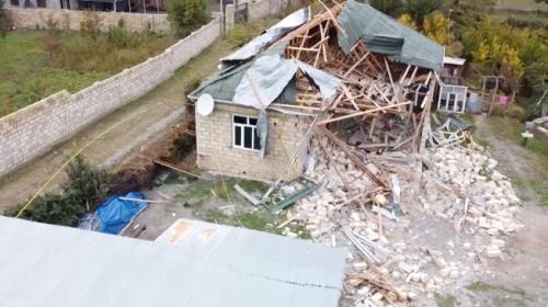 Terter'deki yıkım havadan görüntülendi