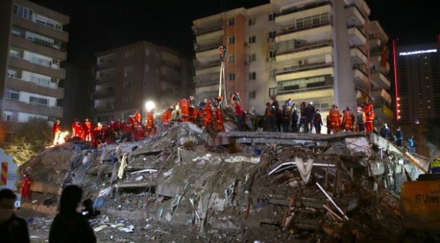 İzmirde can kaybı 116ya yükseldi