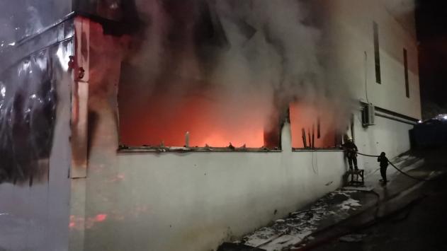 Kocaelide silah fabrikasında yangın