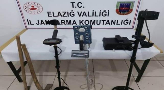 Elazığda sit alanında kaçak kazı yapan 5 kişi suçüstü yakalandı
