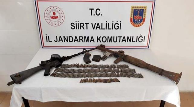Siirtte PKKlı teröristlere ait silah ve mühimmat ele geçirildi