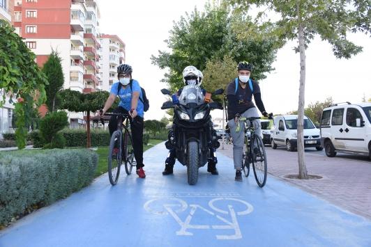 """Konyada """"Bisiklet Yolu Kontrol Zabıtası"""" görevde"""