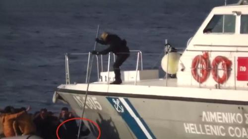 Yunan askerlerinin düzensiz göçmenleri 'ölüme itmesi' kamerada