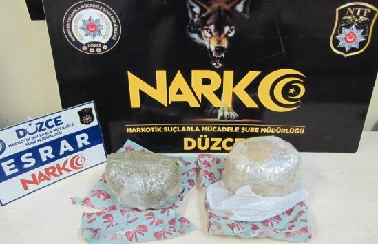 Düzcede uyuşturucu operasyonunda yakalanan iki şüpheliden biri tutuklandı